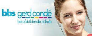 """Titelbild mit Logo der Berufsbildenden Schule """"Gerd Condé"""" der fuu-sachsen."""