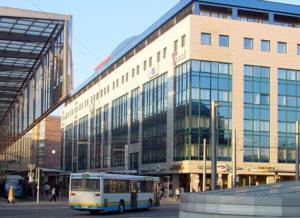 Geschäftssitz der fuu-sachsen und des Stöckhardt-Gymnasiums in der Rathausstraße 7 in Chemnitz.