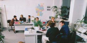 Büro der Übungsfirma für die Ausbildung in den kaufmännischen Berufen.