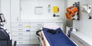 Praxisraum für die Ausbildung im Rettungswesen des mediCampus - gesundheitsfachberufe