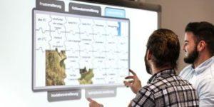 Unterricht mit interaktiver Tafel im Stöckhardt-Gymnsaium