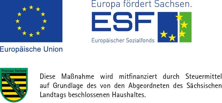 Logo SMWA-EFRE-ESF Sachsen
