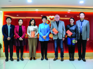 Gruppenbild: Geschäftsführung fuu-sachsen und Geschäftsführung der China Association of Social Welfare and Senior Services