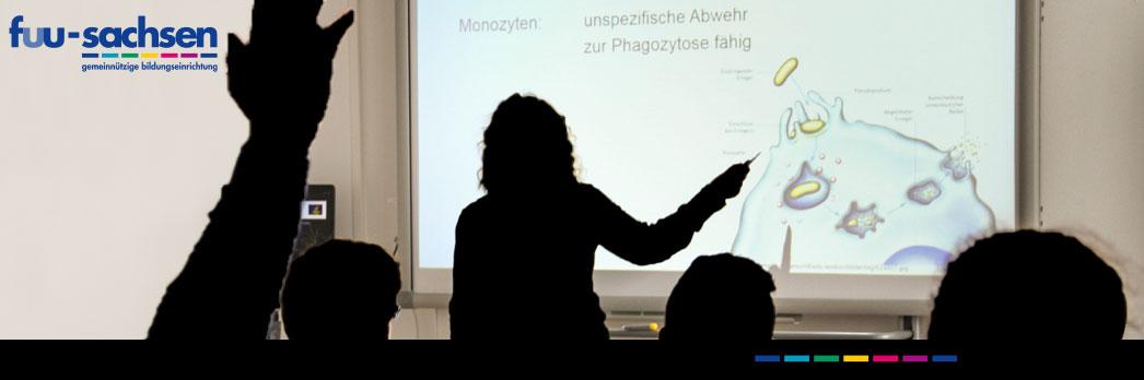 Digitale Tafel am mediCampus in Chemnitz