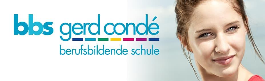 """Titelbild mit Logo der Berufsbildenden Schule """"Gerd Condé"""""""