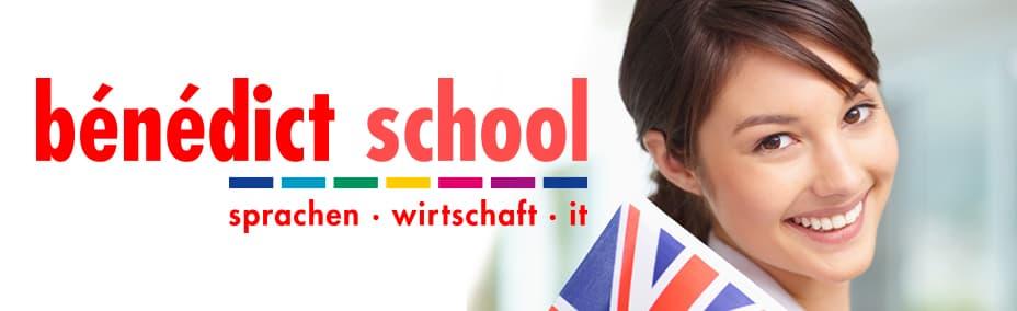 Titelbild mit Logo der Bénédict School Sachsen