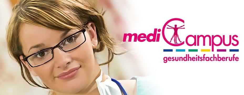 Titelbild mit Logo des mediCampus - gesundheitsfachberufe