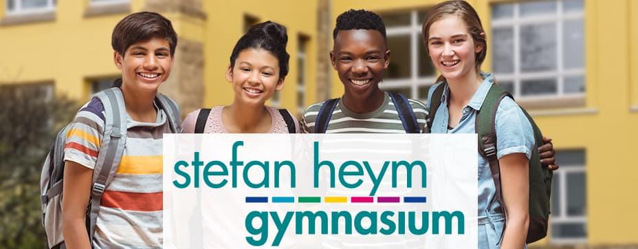 Titelbild mit Logo des Stefan-Heym-Gymnasium